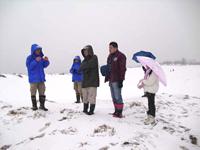 [雪の季節の砂丘ガイド]